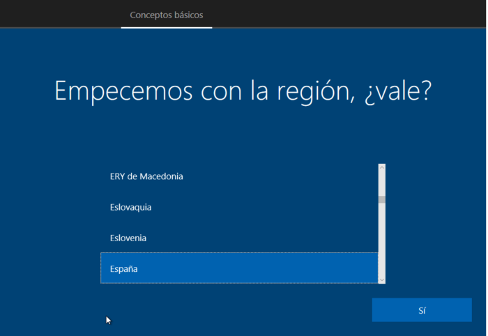 COnfiguracion incial windows 10