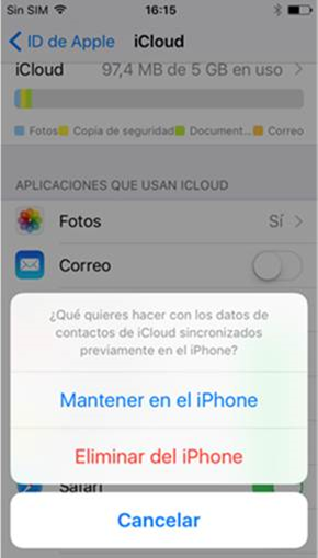 Mantener en el iPhone