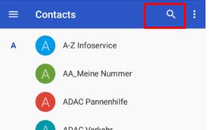 Agenda de números de teléfono Android