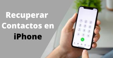 Cómo recuperar contactos en iPhone borrados